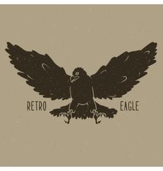Retro eagle vector image
