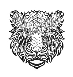 Zentangle stylized tiger head sketch for tattoo vector