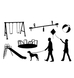 Playground elements vector
