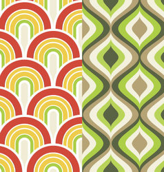 Scallop and ogee pattern set vector