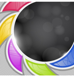 Abstraction on a black background vector image vector image