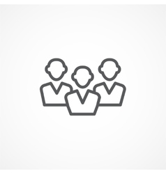 Audience icon vector image