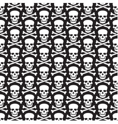 background pattern with skull and crossed bones vector image vector image