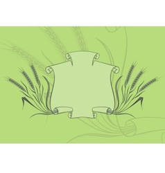 banner with wheat green vector image vector image