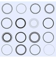 Circle frames set vector image