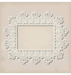 crochet doily vector image vector image