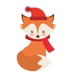 cute animal with christmas clothes vector image