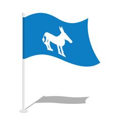 democrat donkey flag national flag of vector image vector image