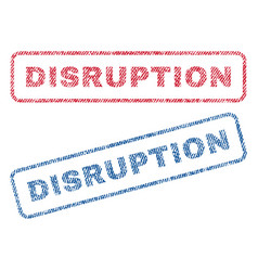 Disruption textile stamps vector