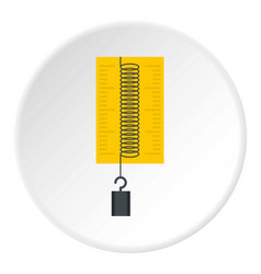 Dynamometer with weights icon circle vector