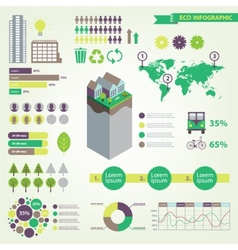 eco infographic set vector image vector image