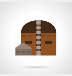 Hangar building flat color icon vector