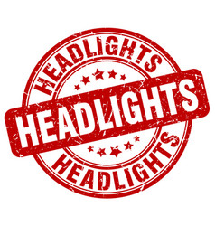 Headlights red grunge stamp vector