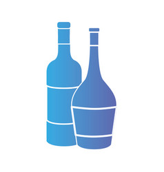 line wine bottles to celebretion beverage vector image vector image