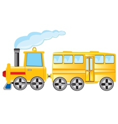 Locomotive with coach vector image