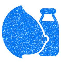 Mother milk grunge icon vector