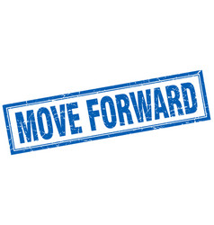 Move forward square stamp vector