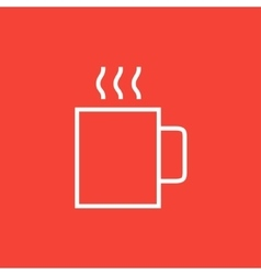 Mug of hot drink line icon vector
