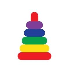 Pyramid toy icon vector