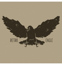 Retro eagle vector