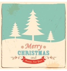 Retro merry christmas background vector