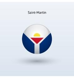 Saint-martin round flag vector