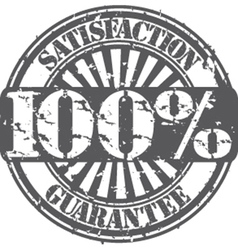 Satisifaction guarantee 100 percent grunge stamp vector