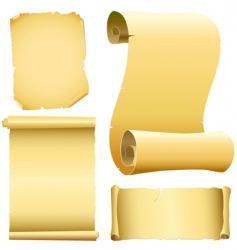 set of old papers vector image vector image