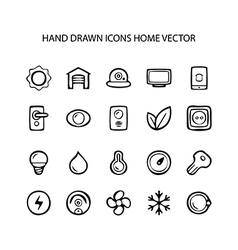 Set of web thin lines icons home vector image