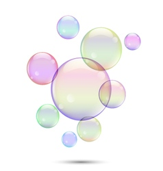 Soap bubbles1 vector image vector image