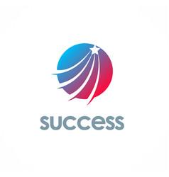 star success bright logo vector image
