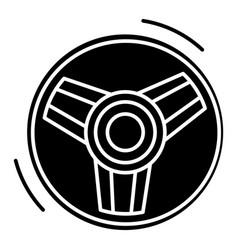 steering wheel icon blac vector image