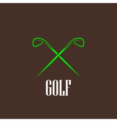 Vintage with a golf drivers vector