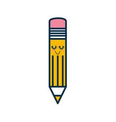 Wooden pencil cartoon vector