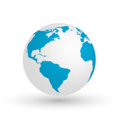 3d earth globe eps10 of vector