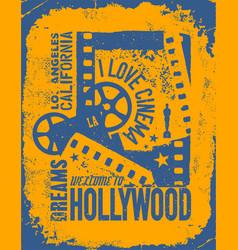 Template grunge cinema poster vector