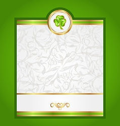 Card with trefoil for saint patrick day vector