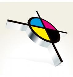 CMYK printing vector image