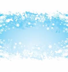 grunge snowflake border vector image
