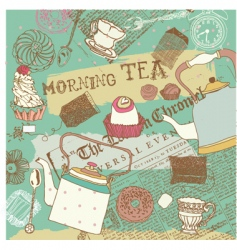 Morning tea background vector