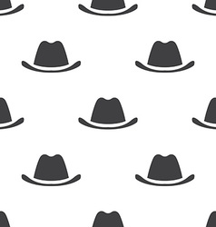 Hat seamless pattern vector