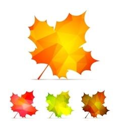 Geometric Autumn Leaves vector image