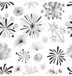 Holiday fireworks seamless pattern vector
