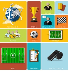 Football tournament and sport flat icon design vector