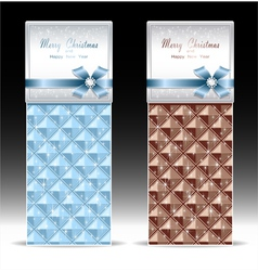 Banners or gift card with bow geometric pattern li vector image vector image