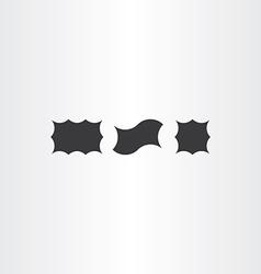 black label frames vector image