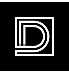 Capital letter d monogram logo emblem vector