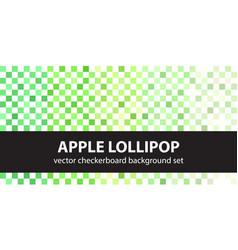 Checkerboard pattern set apple lollipop vector