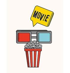 Cinema film design vector