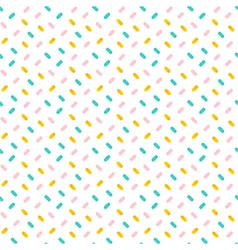 Colorful confetti seamless pattern background vector image
